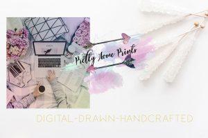A digital graphic for pretty home prints