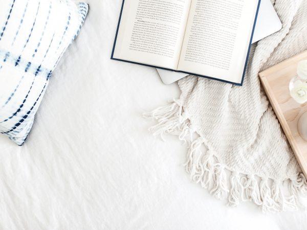 Writer blogging relaxing casual setting calm