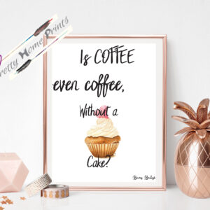is coffee even coffee, without cake