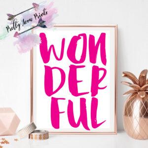 wonderful pink downloadable wall art